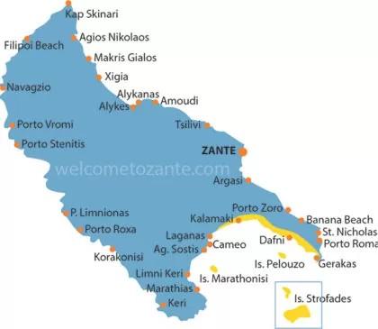 map marine park zante