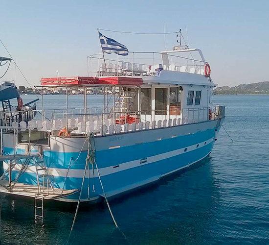 parco marino zante imbarcazione 4 ore