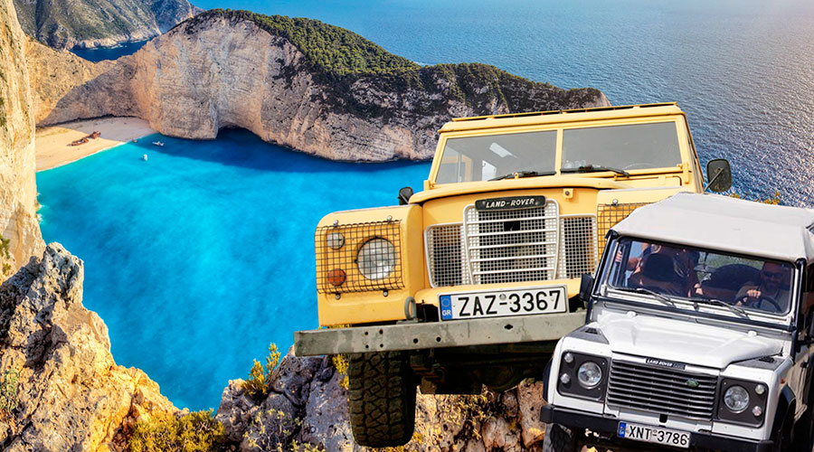Beach-of-wreck-Zante-jeep