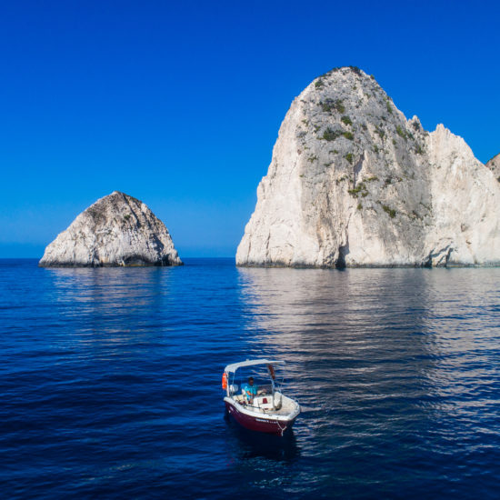 rent a boat with captain Zante Island