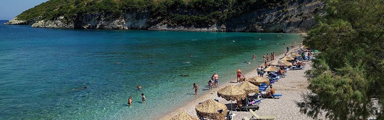 Plaża macri gialos