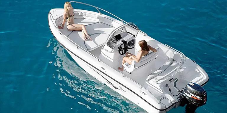 noleggia barca senza patente zante