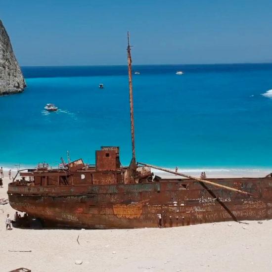 Tour Spiaggia del Relitto Shipwreck boat tour Zakynthos