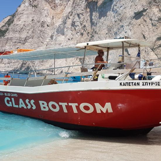 spiaggia del relitto Zante Shipwreck boat tour