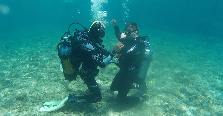 Immersioni subacquee grecia zante rescue diver
