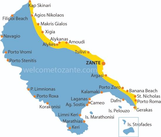 cartina costa orientale