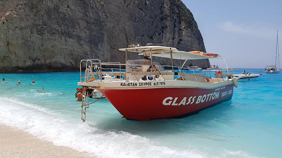 excursions shipwreck beach zante 50 seater