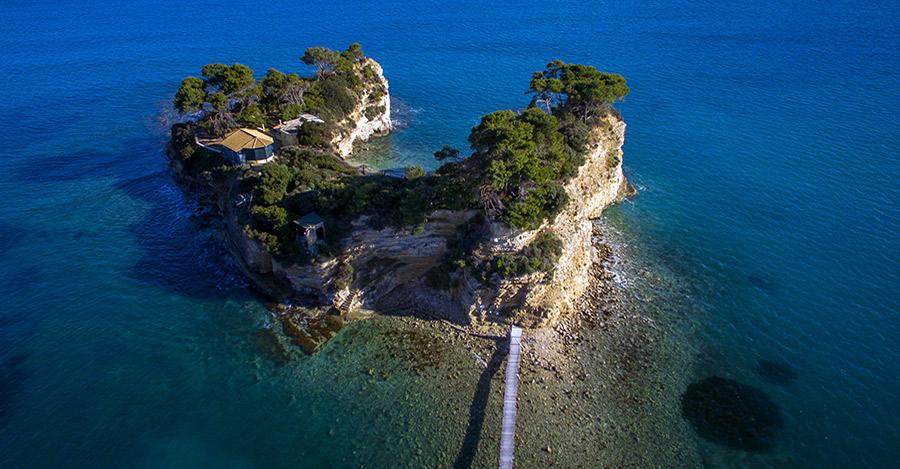 spiaggia isola cameo zante