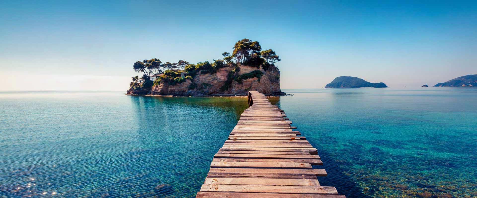 Plages de la côte sud à Zakynthos