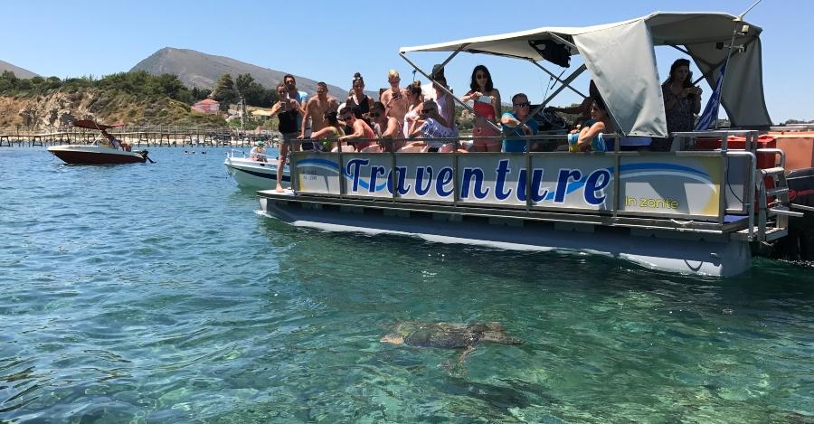 escursione per osservare le tartarughe caretta caretta Zante