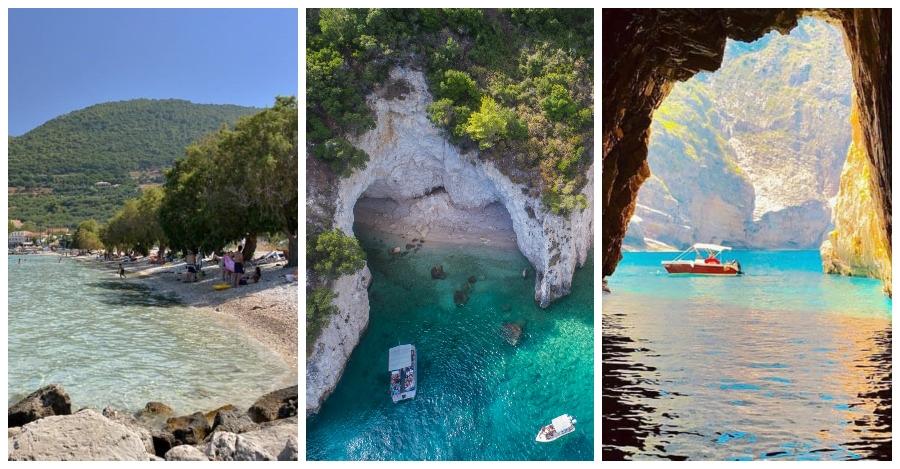 Limni Keri spiaggia e grotte Zante