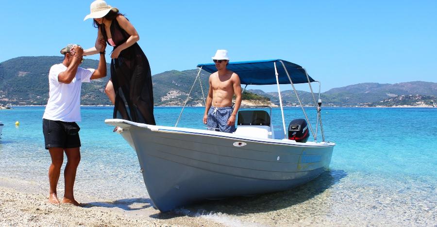 taxi boat isola Marathonisi island Zante