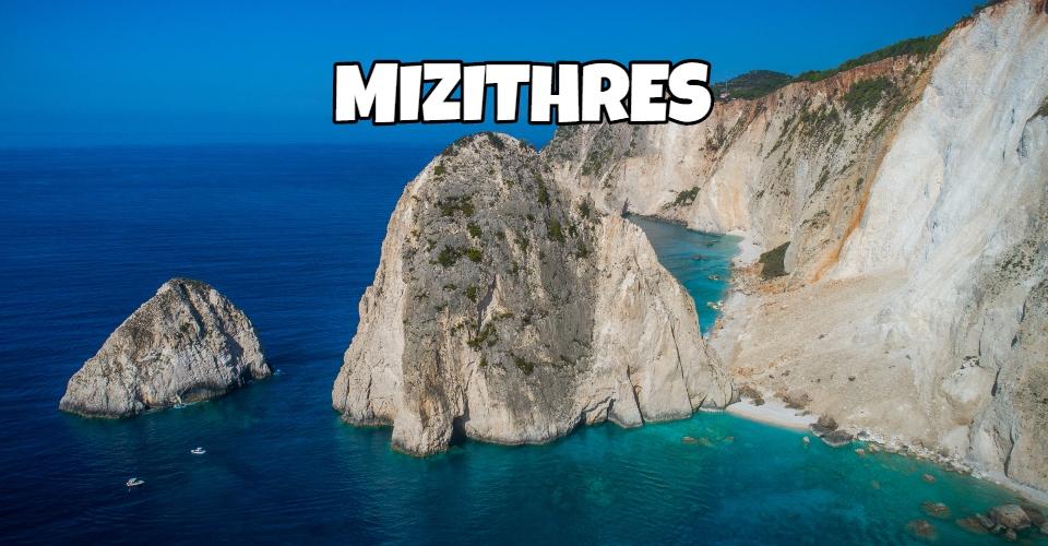 Mizithres faraglioni Zante