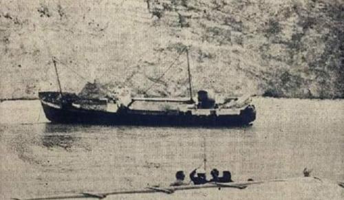 la storia della spiaggia del relitto di Zante