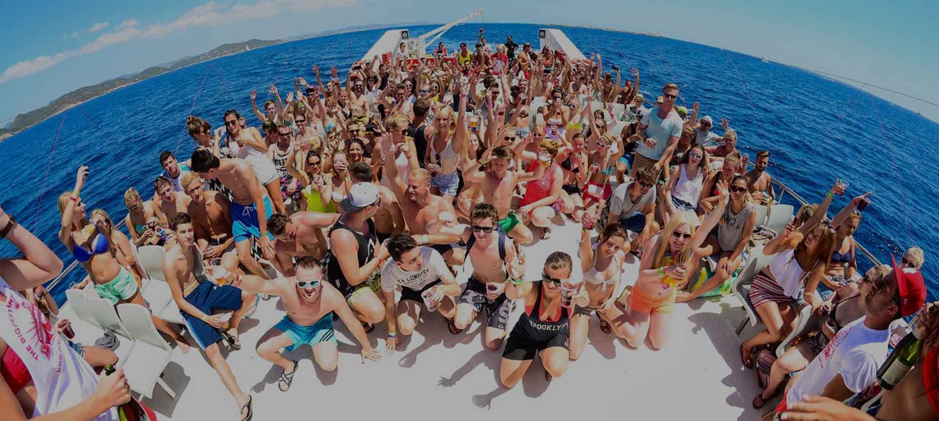 festa in barca a Zante