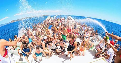 impreza na łodzi zakynthos